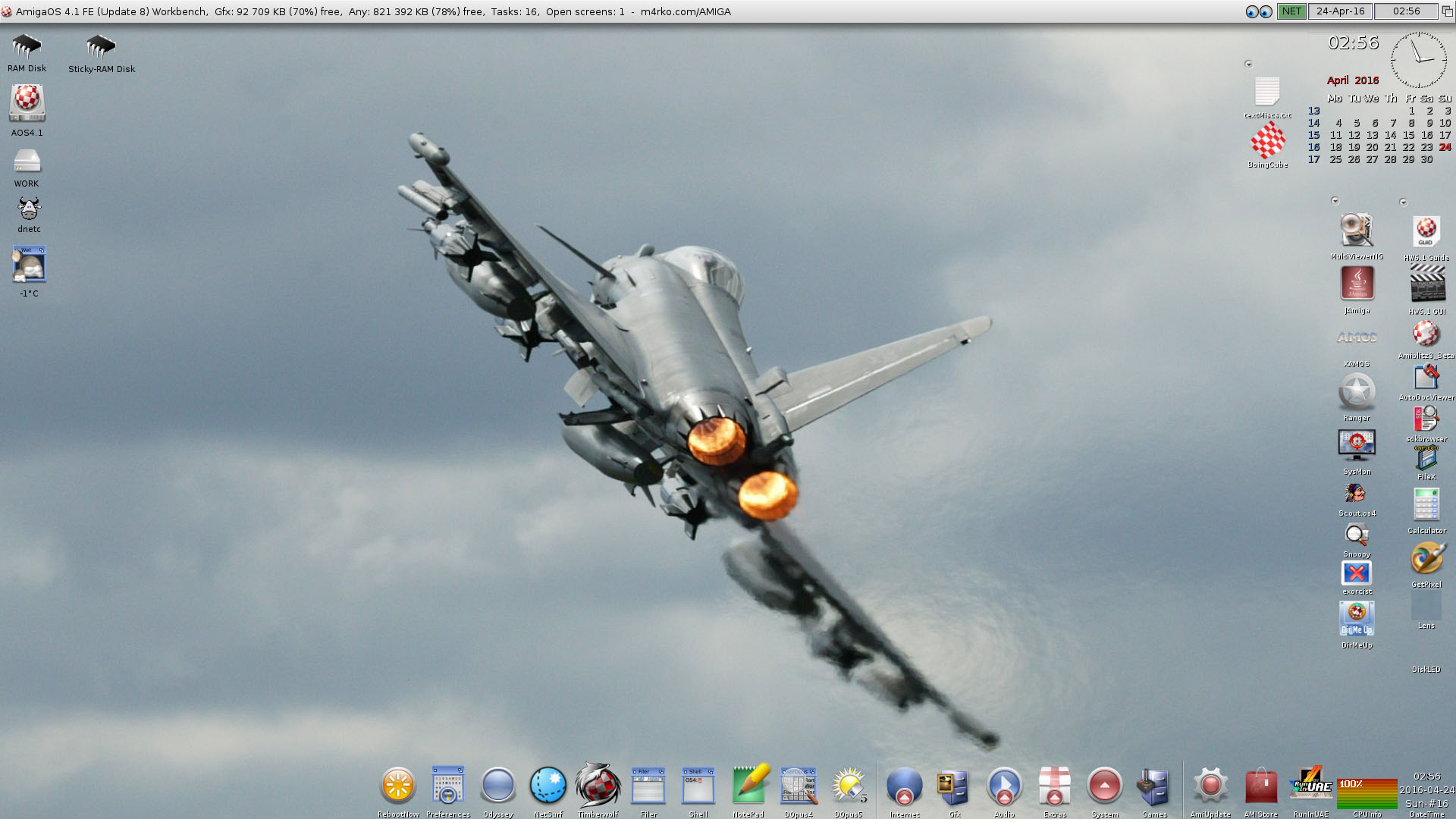 AmigaOS 4.1 FE Workbench-Eurofighter Typhoon